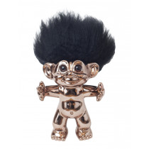 Bronze/black hair, GoodLuck Troll, 15 cm