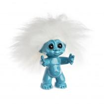 Skyblue/white hair, 9 cm, Goodluck troll