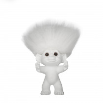 Matte white/white hair, 12 cm, Goodluck troll