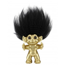 Goodluck Troll, brushed brass 12cm