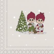 Christmas trolls, Paper napkin