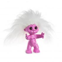 Lykketrold, Pink /hvid hår, 9 cm