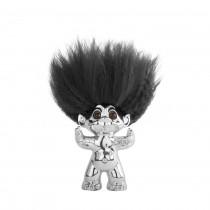 Lykketrold, Krom/ sort hår, 9 cm
