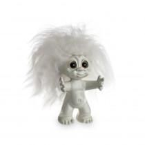 Lykketrold, råhvid/ råhvidt hår, 9 cm