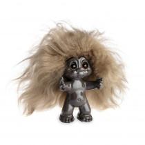 Brown/brown hair, 9 cm, Goodluck troll