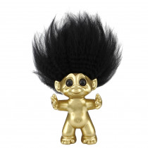 Brushed brass, Goodluck Troll,  9cm
