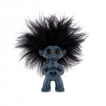 Heart troll, dark blue 9 cm, Goodluck troll